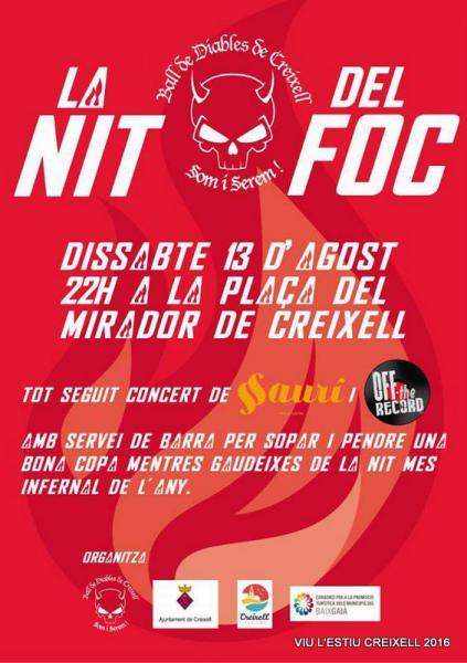 FESTES D'ESTIU A CREIXELL Nit del Foc i Concerts D